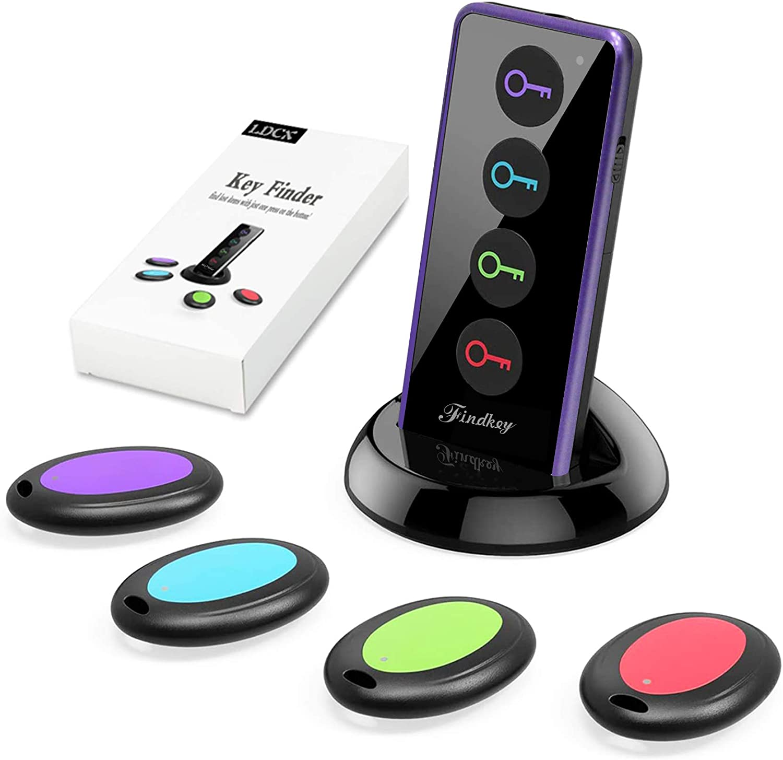 Key Finders Make Noise Item RF Locator Pet Finder Remote Tracker Silver