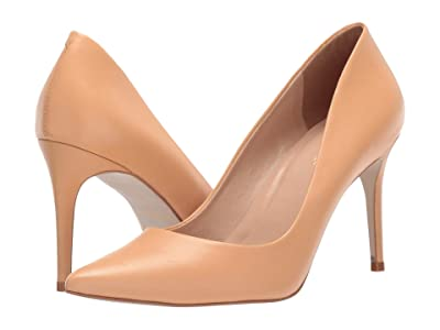 Massimo Matteo 90 mm Pointy Toe Pump (Nude Leather) Women
