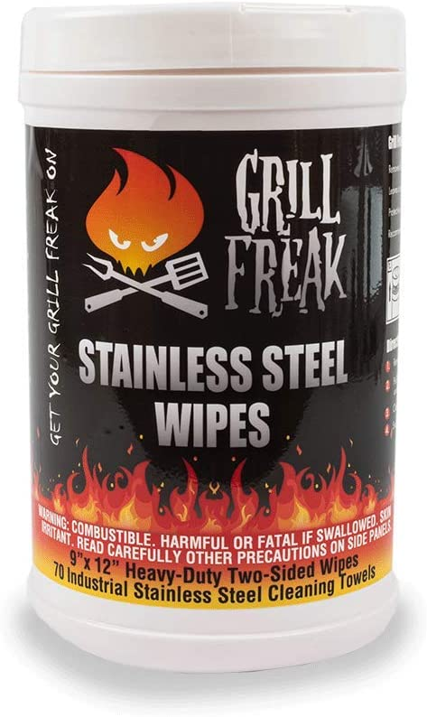 Grill Freak Stainless 70ct Steel Spring new work Product Wipes