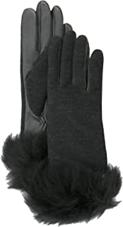 Womens Fabric Long Pile Glove