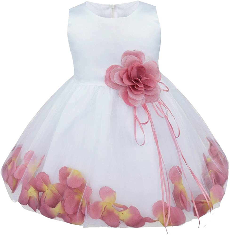 FEESHOW Japan Maker Max 64% OFF New Baby Girl Petals Christening Baptism Weddi Party Pageant