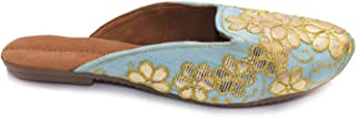 APRATIM Synthetic Women/Girls Gotta Pati Work Traditional Flats/Casual Wear Ladies Slipper/Jutti Ethnic Footwear Turquoise...