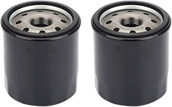 Hilom (Pack of 2 AM107423 AM101001 Oil Filter for John Deere GT235 GX70 LT180 LTR180 LX172 LX277 X 300 F510 RX63 RX73 RX75 SRX75 SX75 SX95 Z445 Briggs & Stratton 499532 692513 Lawn Tractor