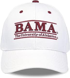 NCAA Alabama Crimson Tide Unisex NCAA The Game bar Design Hat Bama, White, Adjustable