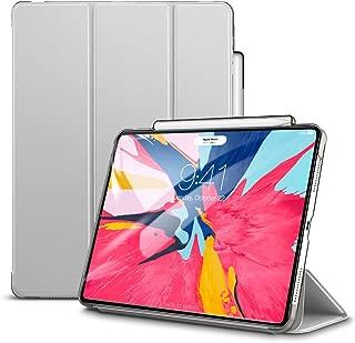 ESR iPad Pro 11 ケース 2018年モデル [第2世代Apple Pencilワイヤレス充電対応] 軽量 薄型 汚れ/スクラッチ防止 オートスリープ機能 三つ折りスタンド Apple Pencil収納 iPad Pro 11インチ 2018年秋モデル対応(グレー)