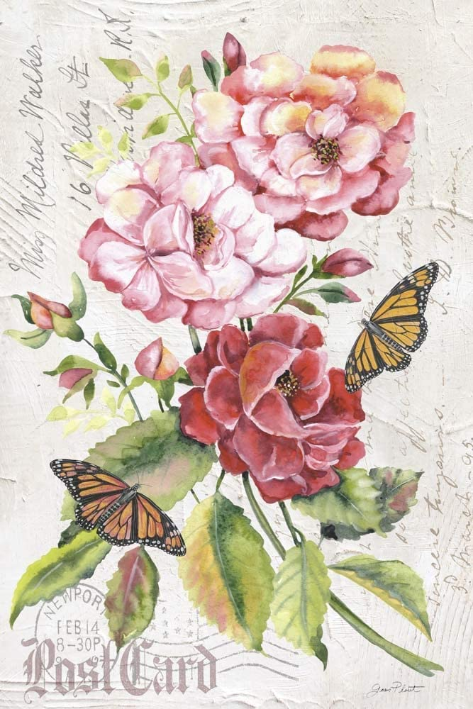 Summer Free shipping on posting reviews Rose Postcard A by Jean Plout Art Print inches 19 28 Max 66% OFF x