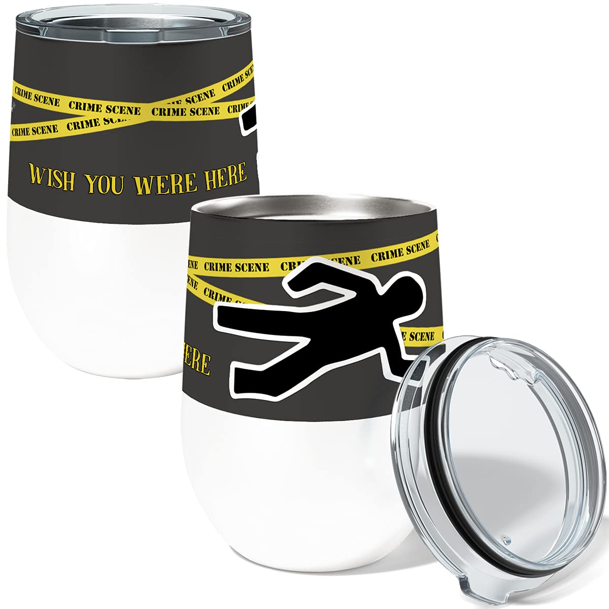 Crime Max 43% OFF Scene Single 12 Ounce Insulated Stainless W Max 85% OFF Steel Stemless