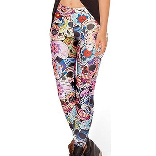 9d7fc527dc2fd Tamskyt Women's Full Length Yoga Leggings Fitness Running Pilates Tights Gym  Skinny Pants 8/10