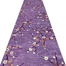 YANZHEN Hallway Runner Rugs Corridor Carpet Non-Slip Low Pile Cutable 7mm Thick, Purple, Multiple Sizes (Color : A, Size :...
