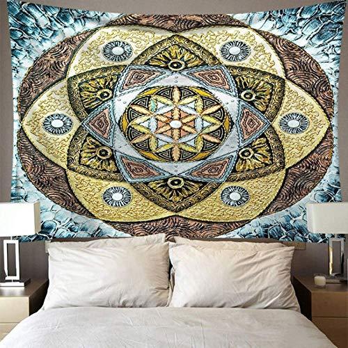 CNYG Tapiz de Pared con impresión Digital, horóscopo, Color Imaginario de Estilo nórdico, adivinación Sm-mdlx-02 95x73CM(Más Cachemir
