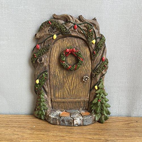 Porta in miniatura per folletti, elfi e fate, decorazione per case e giardini, 18 cm (altezza), idea regalo divertente e peculiare, design: Anthony Fisher