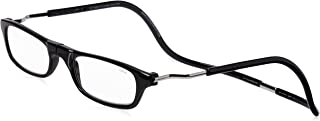 CliC XXL Adjustable Front Magnetic Connect Expandable Reading Glasses; Black +1.25