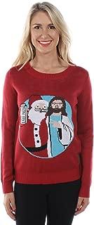 Women's Santa and Jesus Jingle Bros Christmas Sweater