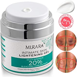 Intimate Skin Whitening Cream For Face, Lightening Cream for Body, Armpits, Knees, Elbows, Sensitive & Private Areas, Whitens, Nourishes, Brightens & Restores Underarm Skin -1.7 Oz