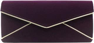 Wiwsi New Women Faux Suede Velvet Envelope Ladies Evening Party Clutch Chain Bag