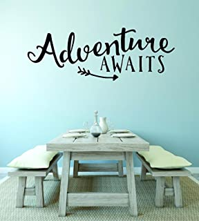 """Design with Vinyl RAD V 359 3 Adventure Awaits Love Valentines Heart Home Decor Living Room Bedroom Picture Art Decal, 20""""..."""