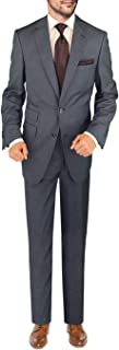 DTI BB Signature Italian Men's Wool Suit Two Button 2 Piece Ticket Pocket Jacket