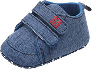Weixinbuy Newborn Baby Boy's Soft Sole Anti-Slip Casual Sneaker Shoes Prewalker