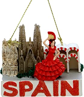 Kurt Adler Spain Christmas Ornament Landmarks Glitter Spain Ornaments