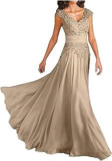 SongSurpriseMall Damen Elegantes Lang Mutter der Braut Kleider Abendkeleider mit Spitze Festliches Kleider