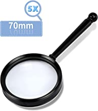 5X Magnification Handheld Magnifier, Best Reading Magnifier for Reading Book, Science, Inspection, Insects, Coins, Rocks, Map, Crossword Puzzle