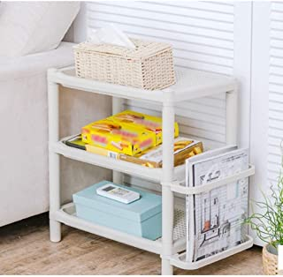 DHMHJH Shoe Rack, Multi-Layer Simple Shoe Rack - Storage Rack Plastic - Assembled Shoe Rack - Door and Entrance Channel Debris Rack, White Simple Style (Size : 3 Layers: 18.3x11.6x19.6 inches)