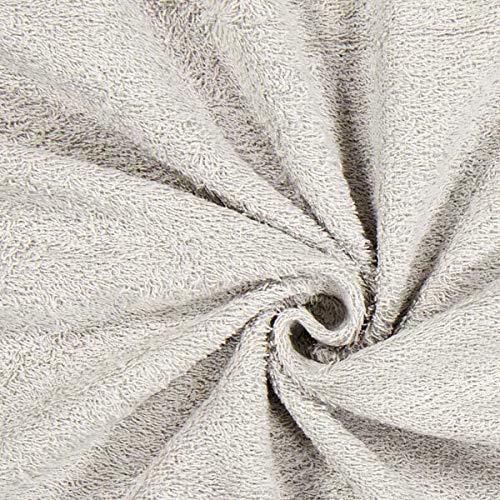 Fabulous Fabrics Frottee – hellgrau — Meterware ab 0,5m — zum Nähen von Handtücher, Hauskleidung und Bademäntel