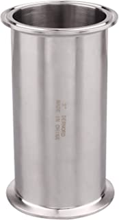 DERNORD Sanitary Spool Tube with Clamp Ends,Stainless Steel 304 Seamless Round Tubing with 3 inch Tri Clamp 91MM Ferrule Flange (Tube Length: 6 Inch / 152MM)