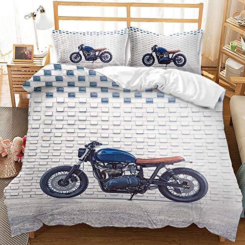 Set copripiumino da letto, serie Cool Racing locomotiva tema, biancheria da letto, in microfibra, 200 x 200 cm e federa 50 x 75 cm (locomotiva 05, matrimoniale)
