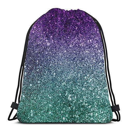 LREFON Borse da palestra con coulisse Zaino Purple Diamond Sackpack Tote per viaggio Portaoggetti Scarpa Organizer Borse da regalo per pallacanestro Studente