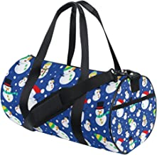 FANTAZIO Gym Duffel Bag Merry Christmas Leuke Sneeuwpop Dansen Mens Gym Duffel Bag