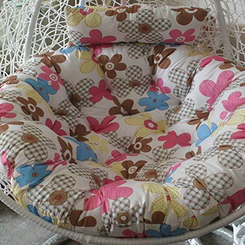 ZXL Ei-Nest gevormde kussens, kussen voor schommelstoel, kussen voor eistoelen van pluisvrij katoen, rond, kussen voor Patio-C 105 x 105 cm