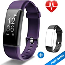 Lintelek Fitness Tracker HR, Activity Tracker with Step Counter, Heart Rate Monitor, Smart Watch with Sleep Monitor, Extra Replacement Band for Men Women Kids