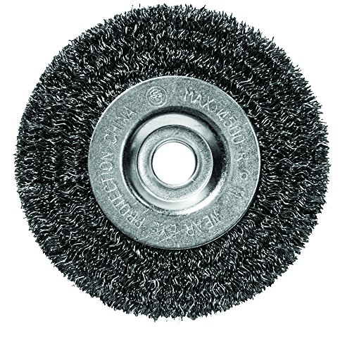Century Drill & Tool 76853 Fine Crimped Bench Grinder Wire Wheel, 5'