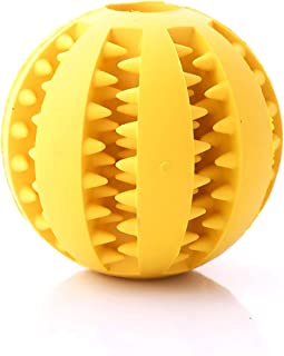 Dental Chew Treat Ball for Dogs & Cats Interactive Pet Training, Durable, BPA-Free, Non-Toxic Natural Rubber Tooth Cleaning Toy
