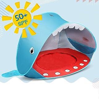 Opret Tienda Playa Bebe- Pop-up Tiendas de Campana con Piscina para Ninos Carpa Plegable Portatil Anti UV 50+ Protector Solar- Estilo de Ballen
