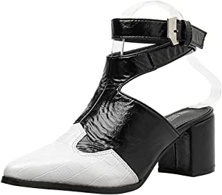 JTENGYAO Womens Roma Sandals Boots Soft Bottom Closed-Toe Shoes