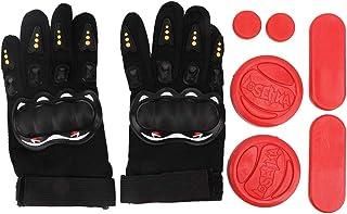 Solomi Guantes de Skateboard, Triple-Slider Longboard Sliding Plate Gloves Guantes de protección Deportiva para Skateboard