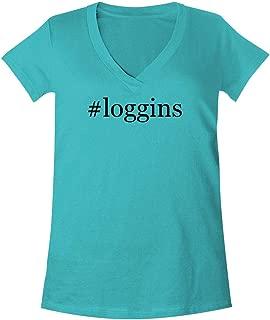 The Town Butler #Loggins - A Soft & Comfortable Women's V-Neck T-Shirt