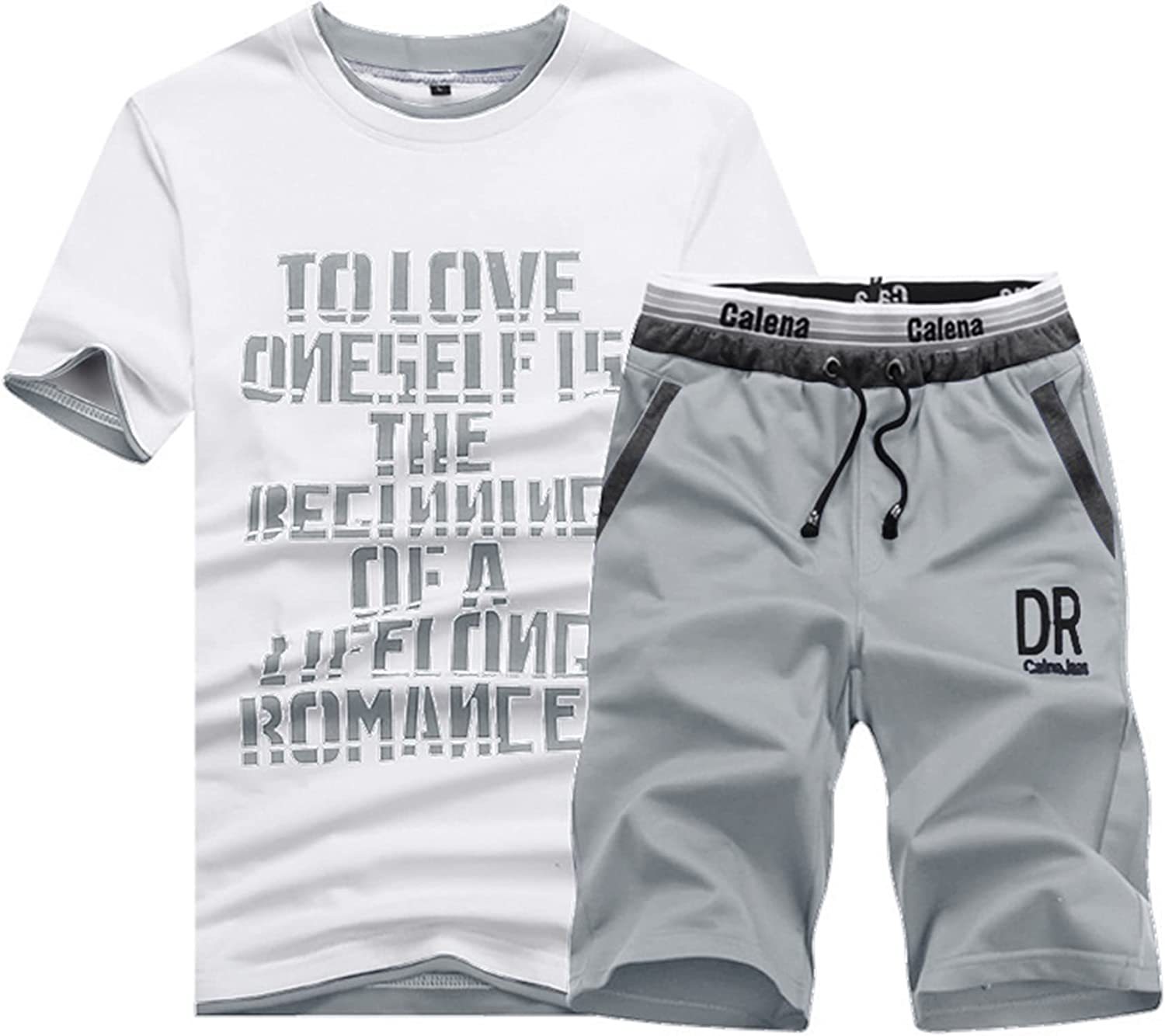 Men's Translated Shorts OFFicial store Set - 2 Pieces T-shi Short Sleeve Sport Outfits