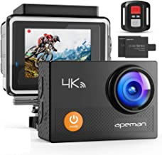 APEMAN A77 Action Camera 4K WiFi Web Cam 16MP Sports Cam 30M Waterproof Underwater Camcorder with 2.4G Remote Control and ...