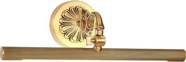 MJJ - Badkamerspiegel met ledverlichting, voorlicht van de spiegel, led-lamp, Europese stijl, waterdicht en condensvrij, g...