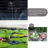 【PCATEC】 1.4W ソーラーミニ噴水スペシャルセット お庭のプチ噴水つくりに最適 噴水の最大高45cmまで 池でも使えるソーラー池ポンプ【濾過装置搭載】
