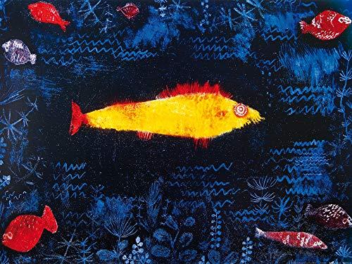 1art1 Paul Klee - Der Goldene Fisch, 1925 Poster Kunstdruck 80 x 60 cm