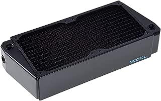 Alphacool NexXxos UT60 Full Copper X-Flow Radiator240, 120mm x 2, Dual Fan, Black