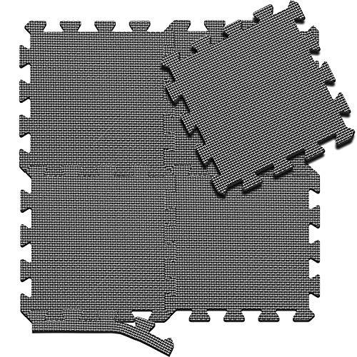 arteesol Tappeto da Fitness Tappetini per Pavimenti ad Incastro Morbidi 18 tappetini Puzzle Eva tappetini Antiscivolo per Bambini Adulti in Attrezzature per Palestra all\'aperto Indoor
