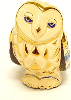 Pottery animal figurines Silver Anniversary Collection [ barn owl 722 ]
