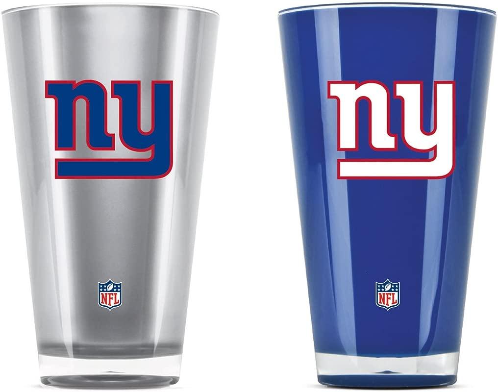 NFL New York Giants 20oz Insulated Acrylic Tumbler Set Of 2