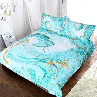Rvvaceo® 3D Parure De Lit, Turquoise Menthe Créative Turquoise 240 X 220 Cm 3 Pièces Housse De Couette Microfibre Conforta...