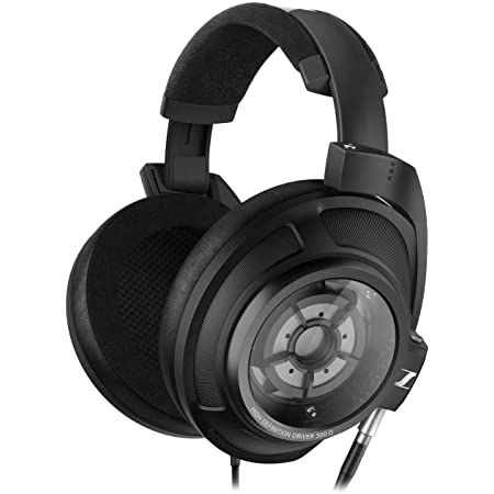 Sennheiser HD 820 Over-the-Ear Audiophile Reference Headphones - Ring Radiator Drivers with Glass Reflector Technology, Sound Isolating Closed Earcups, Includes Balanced Cable, 2-Year Warranty (Black)